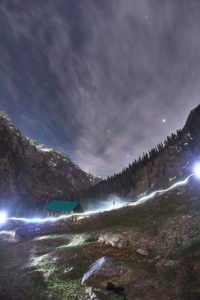 MID NIGHT AT Kheerganga Trek