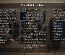 Triund Treak gear