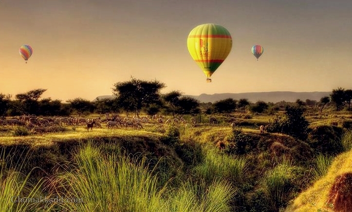 Top Hot Air Balloon Destination in India.