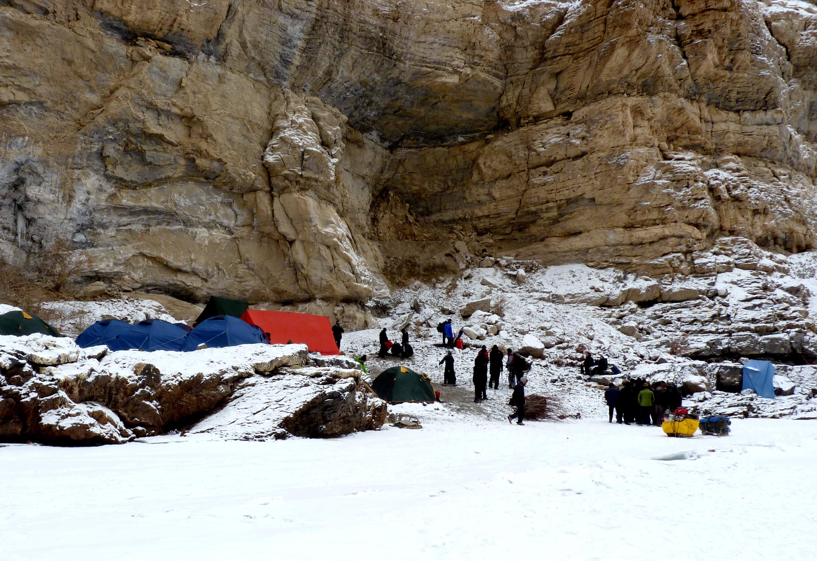 Chadar Trek- Frozen River Trek Camp Site