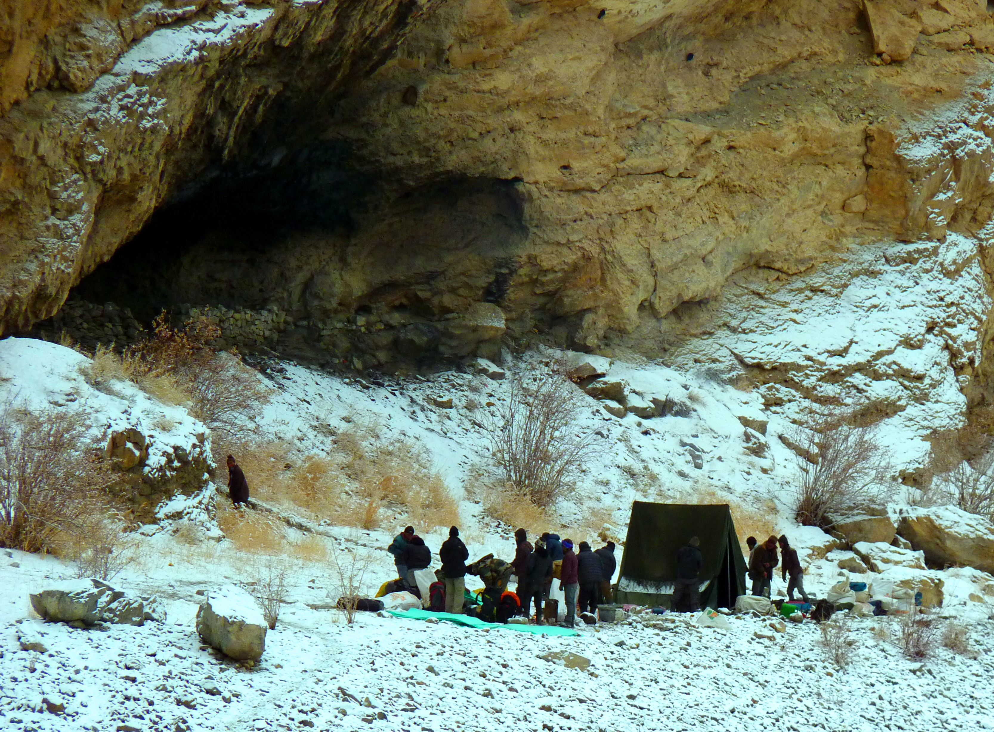 Chadar Trek- Frozen River Trek, cave near Tibb