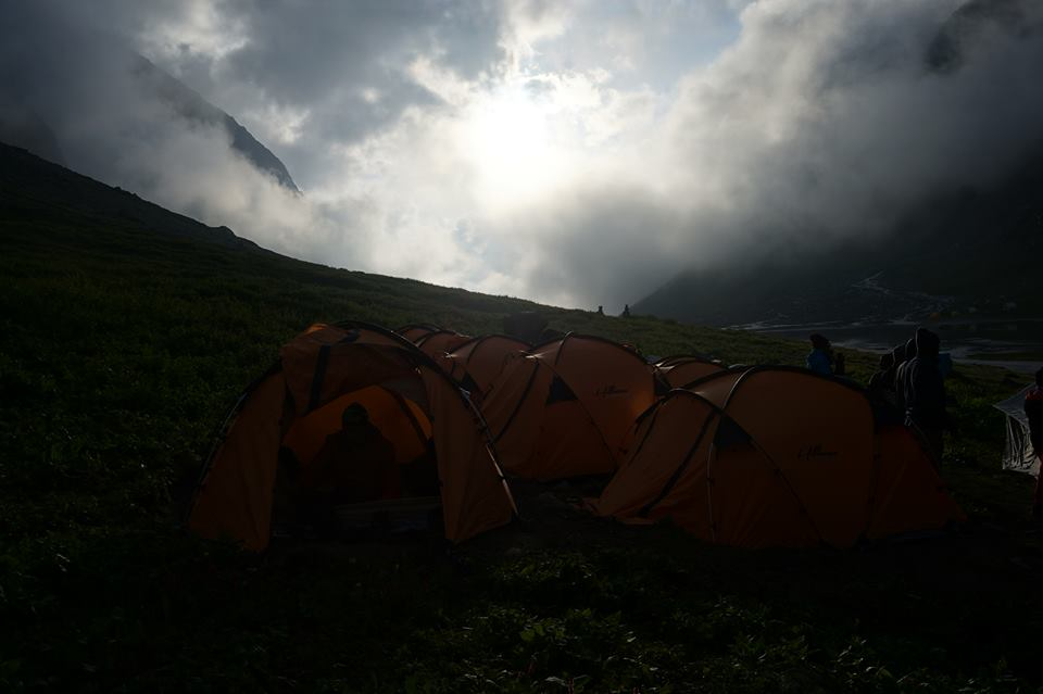 Camp Site Hampta Pass Balu Ka Ghera Trek