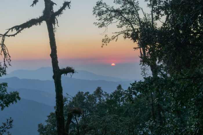 Beautiful sunset Nag tibba trek