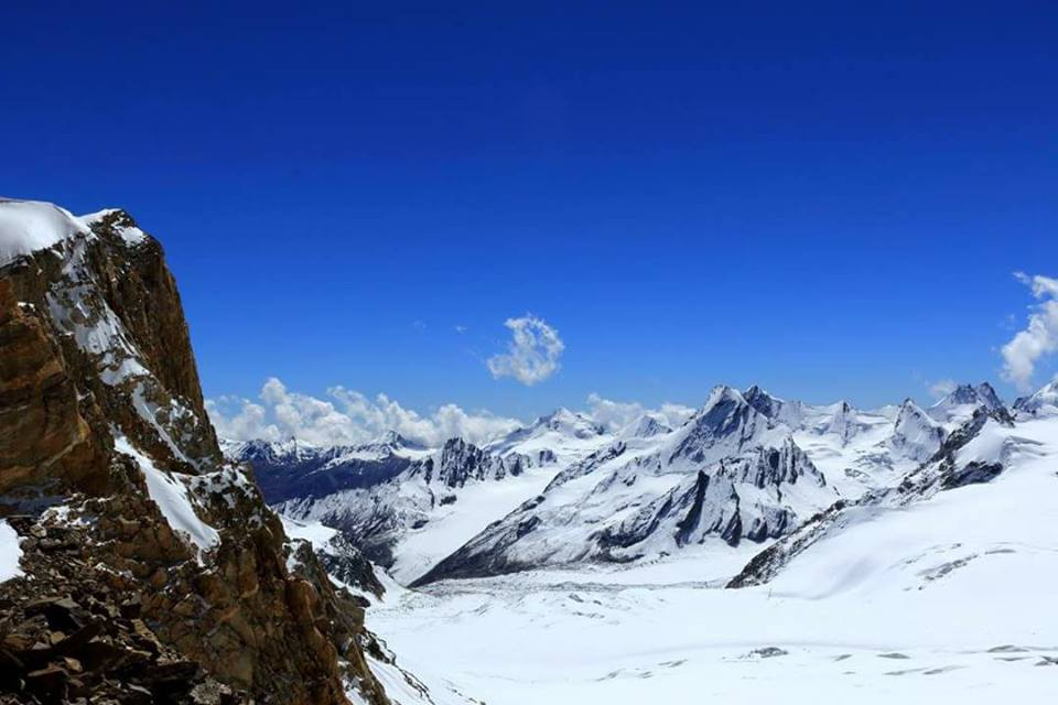 khatling glacier trek View from Auden's Col 1801ft credit govind seshadri